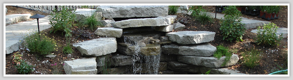 Custom Hardscape and Water Feature