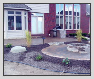 Michigan hardscaping and Landscaped Stone Work